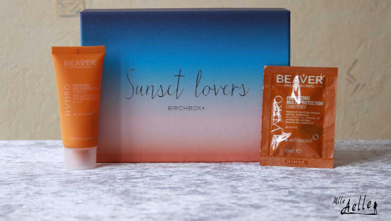 Revue de la Birchbox du mois de juillet - Sunset Lovers