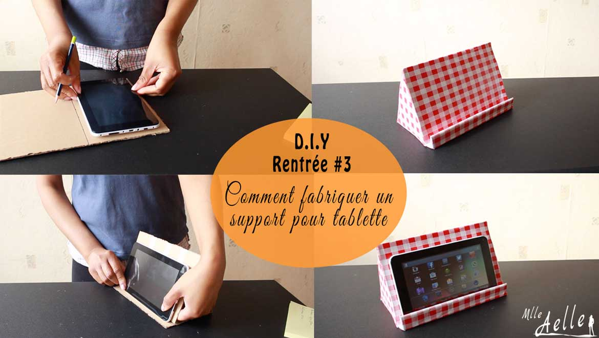diy rentr e 3 fabriquer un support pour tablette. Black Bedroom Furniture Sets. Home Design Ideas
