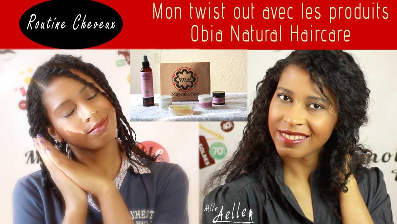 Mon twist out avec les produits Obia Natural Haircare