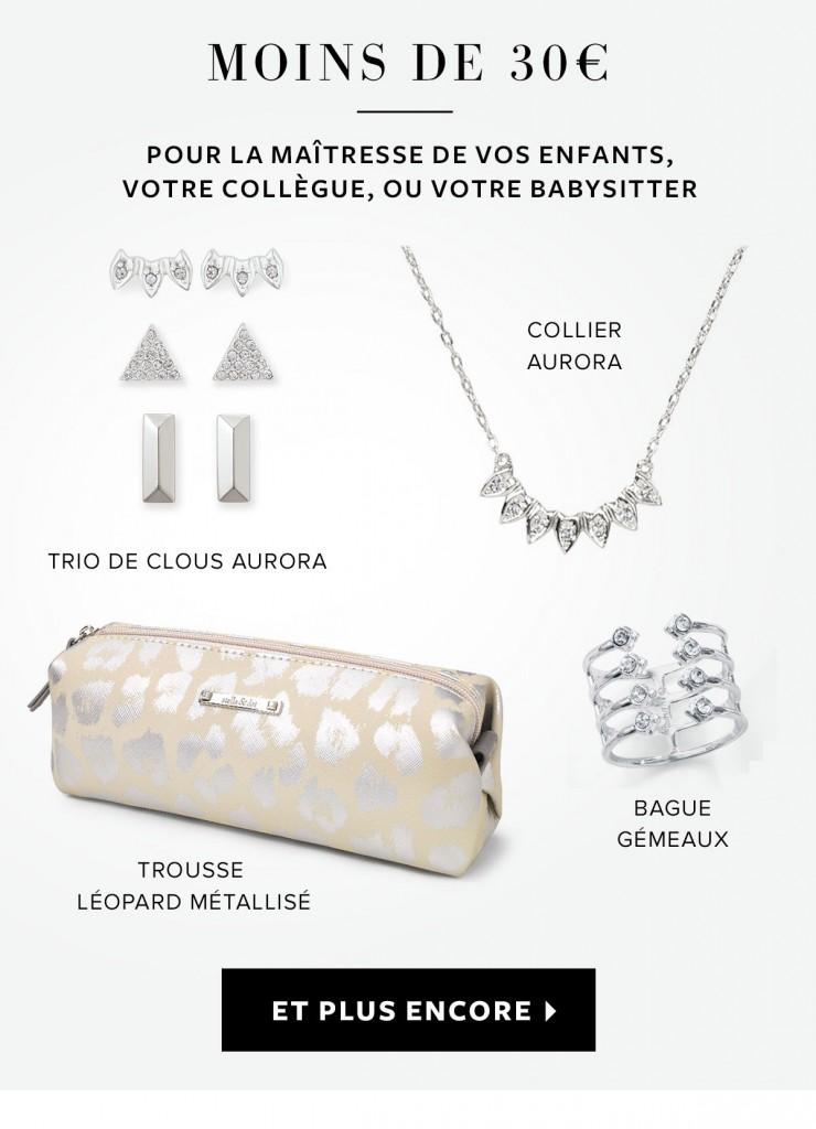 Stella & Dot : Idées cadeaux à moins de 30 € et 50 €