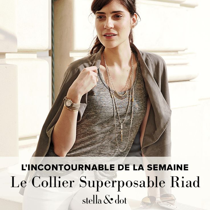 L'incontournable de la semaine : le Collier superposable Riad