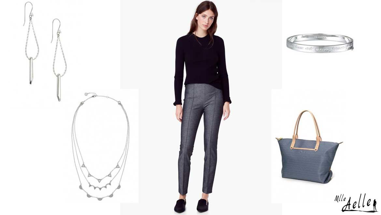 5 tenues de travail accessoiris es mademoiselle aelle. Black Bedroom Furniture Sets. Home Design Ideas