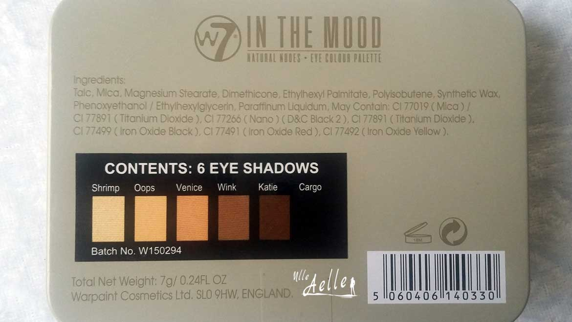 Revue de la palette In The Mood : swatch + make up
