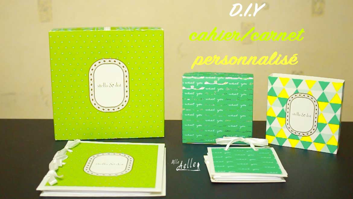 diy cahier ou carnet personnalis mademoiselle aelle. Black Bedroom Furniture Sets. Home Design Ideas