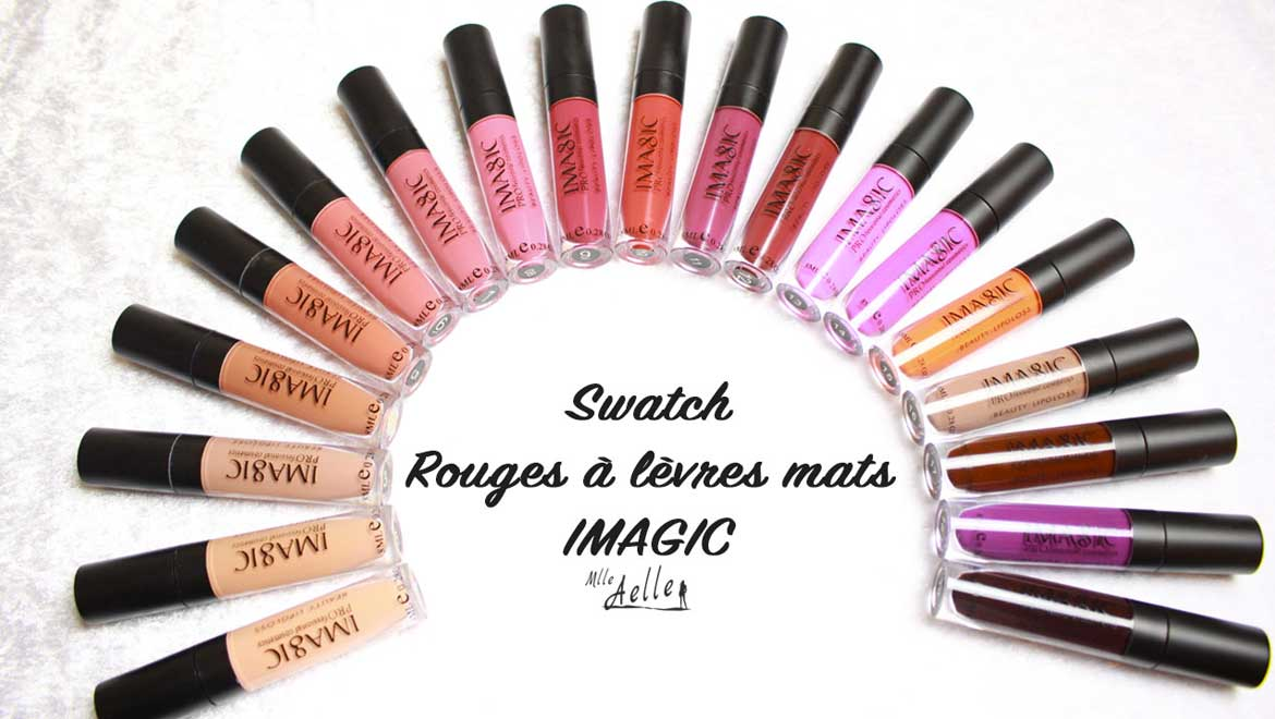 Swatch rouges à lèvres mats IMAGIC