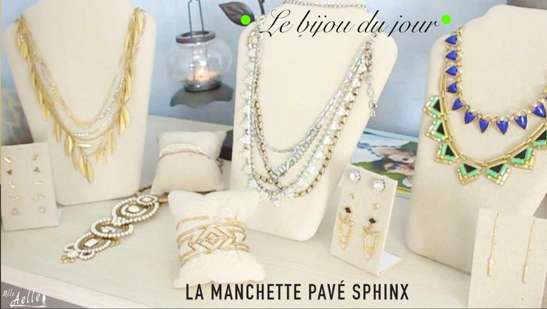 Le bijou du jour - La Manchette Pavé Sphinx Stella & Dot