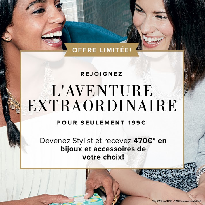 Offre de Bienvenue Nouvelle Stylist: recevez 470 € de bijoux et accessoires !