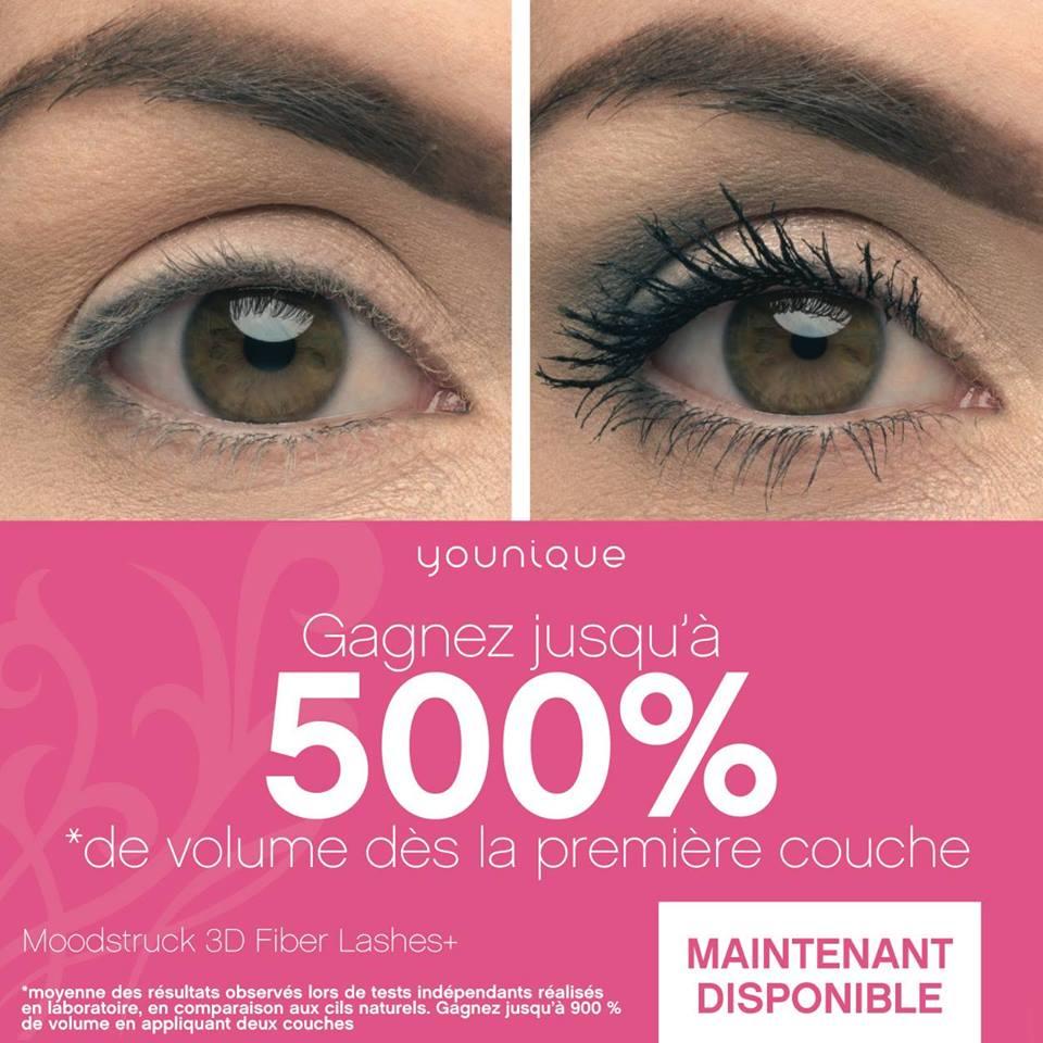 (Re)Découvrez le Mascara Moodstruck 3D Fiber Lashes+ de Younique !