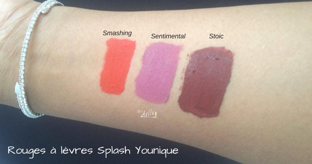 Revue des rouges à lèvres mats Splash de Younique
