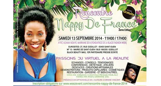 """La troisième édition de """"Rencontre Nappy de France"""" aura lieu le samedi 13 septembre 2014"""