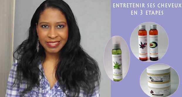 Entretenir ses cheveux en 3 étapes et avec 3 produits
