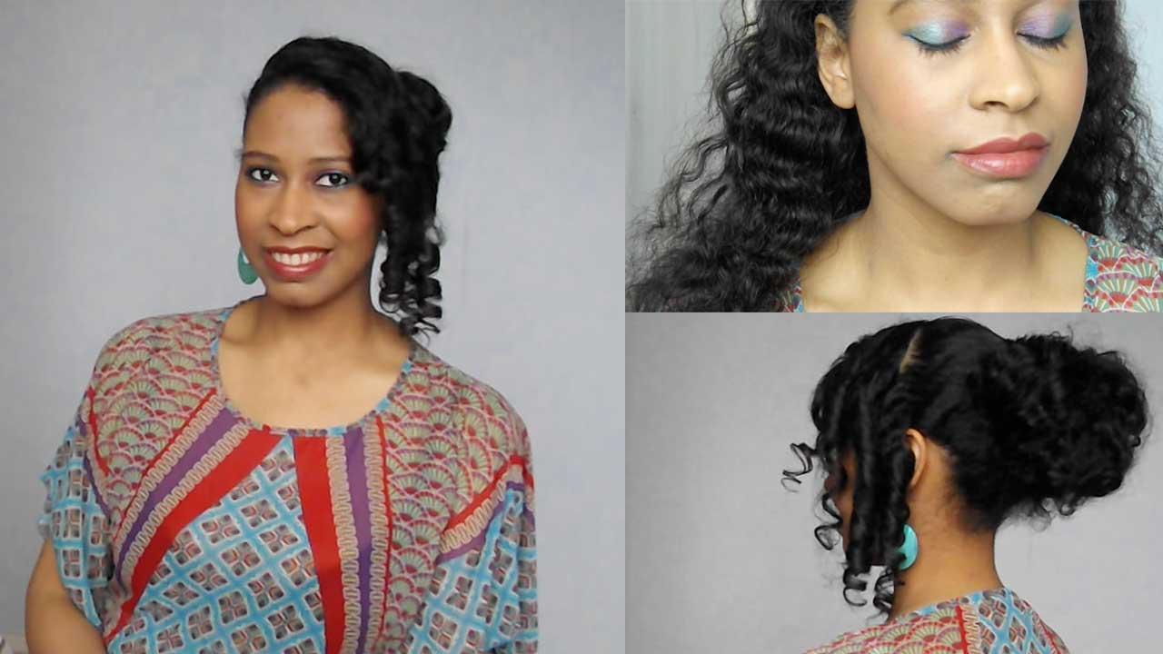 Maquillage et coiffure d'été simple à réaliser