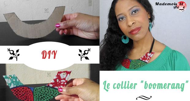 """DIY : le collier """"boomerang"""""""