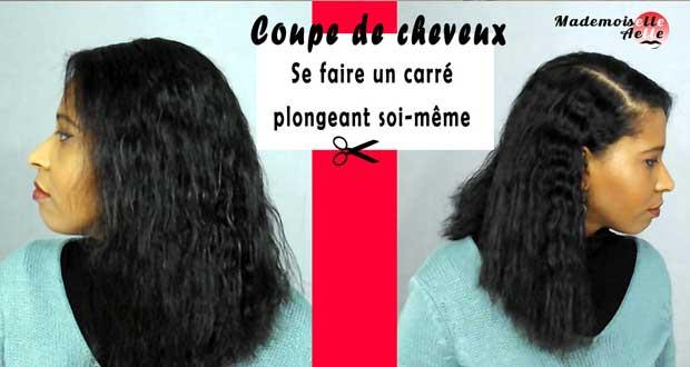 Coupe De Cheveux Realiser Un Carre Plongeant Soi Meme Mademoiselle Aelle