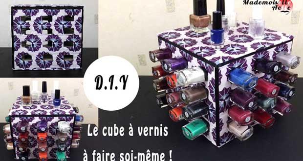 DIY : Fabrique ton cube à vernis pour ranger tes vernis !