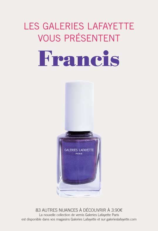 Les Galeries Lafayette lance sa collection de vernis !
