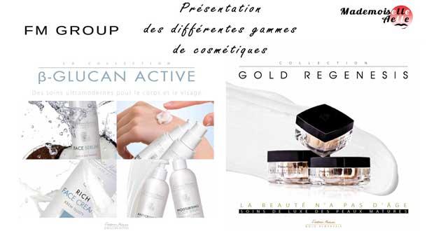 Présentation des différentes gammes de cosmétiques de FM GROUP