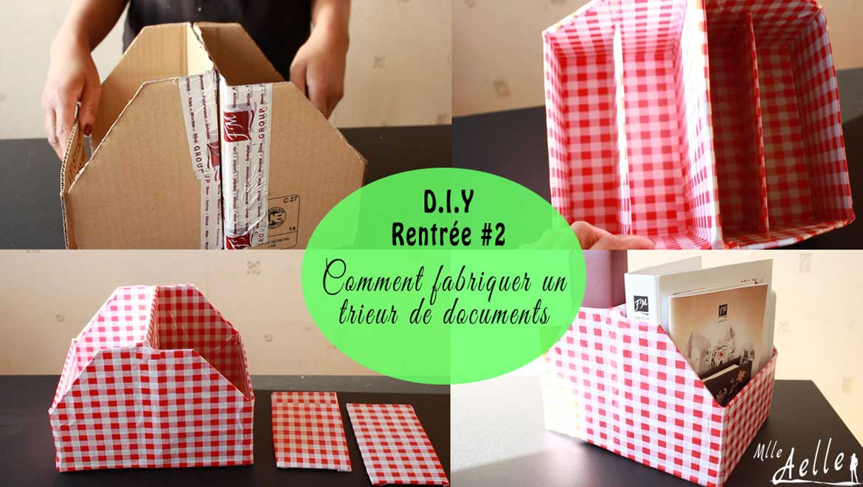 DIY rentrée #2 - Fabriquer un trieur de documents