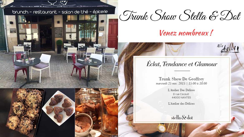 Trunk Show Stella& Dot à L'Atelier des Délices le 25 novembre à Nantes