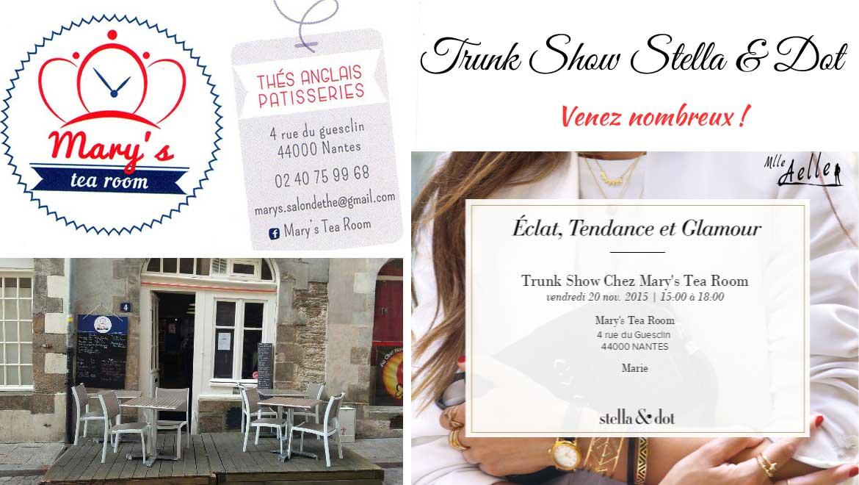Rendez-vous le 20 novembre au Mary's Tea Room pour un Trunk Show à Nantes !
