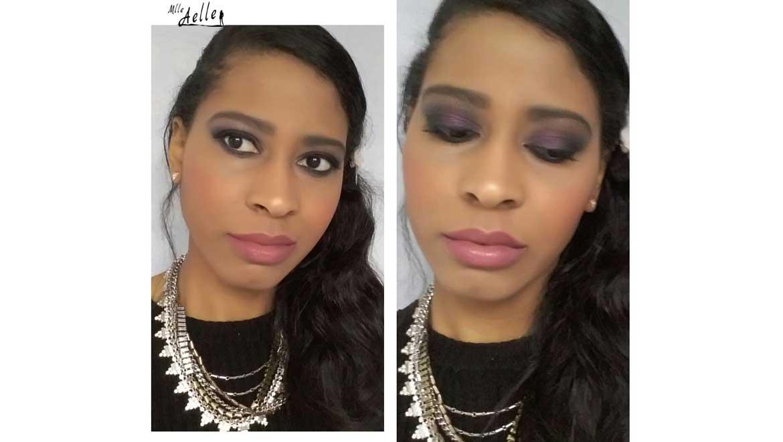 Maquillage de fêtes violet / prune