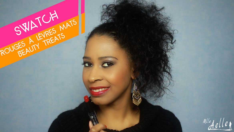 Swatch : Les rouges à lèvres Matte Mania de Beauty Treats