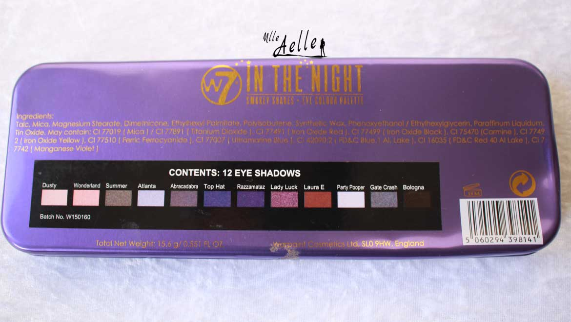 Palettes In The Buff W7 Cosmetics