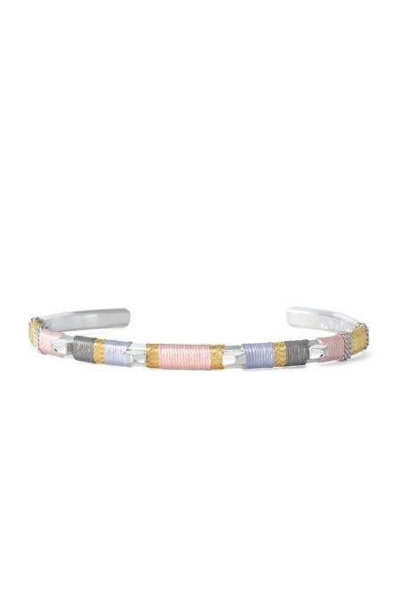 Un Bracelet-manchette Couleurs contrastées offert !