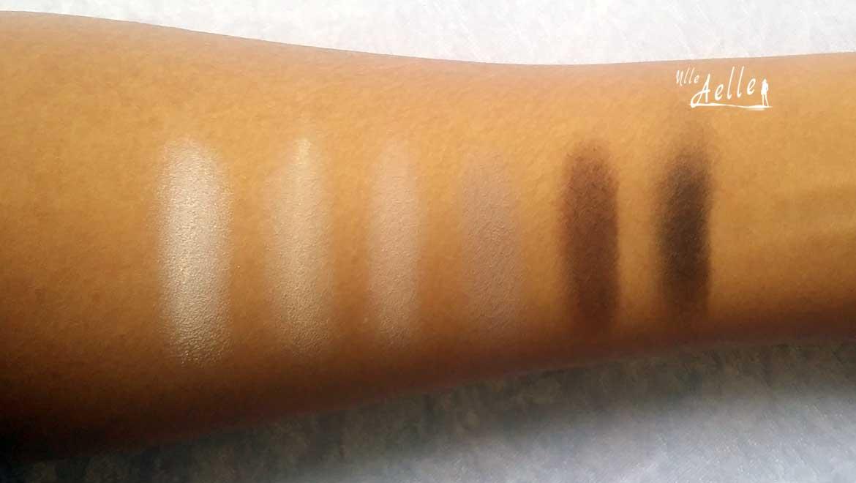 Revue de la palette In The Mood : swatch + make up