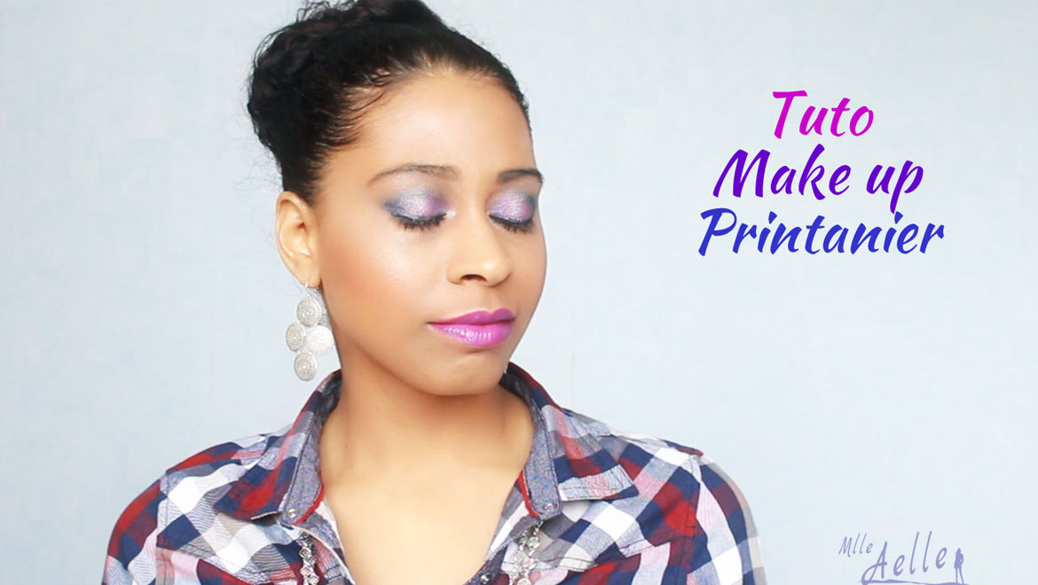 Tuto make up printanier bleu-violet