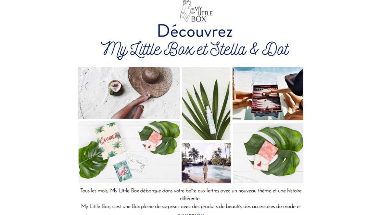 Stella & Dot est dans My Little Box du mois de Juillet !