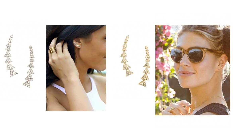 Les boucles d'oreilles Grimpantes Pavé Triangle offertes dès 65 € d'achat - Stella & Dot