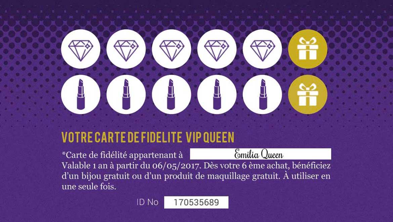 Mon programme fidélité VIP Queen