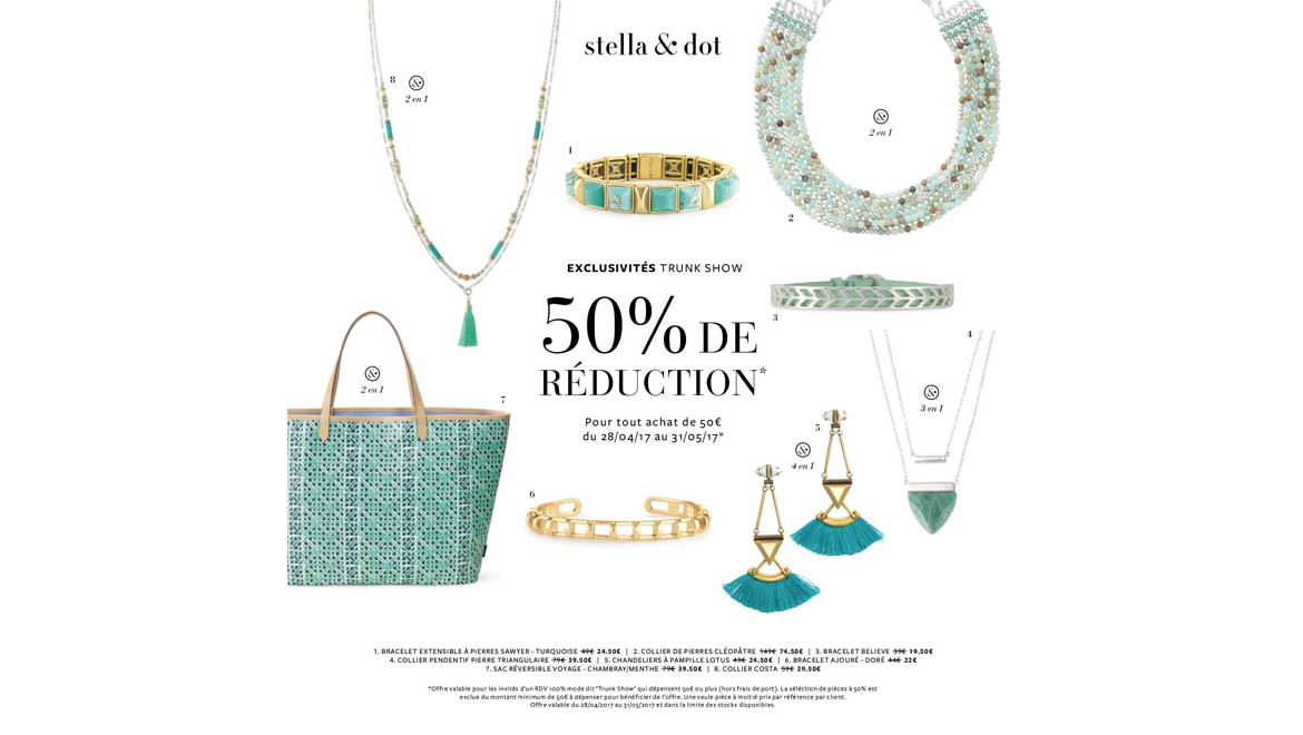 L'Offre Exclusive Trunk Show Stella & Dot - Mai 2017
