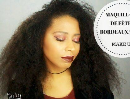 Maquillage De Fêtes Facile Bordeaux/Doré