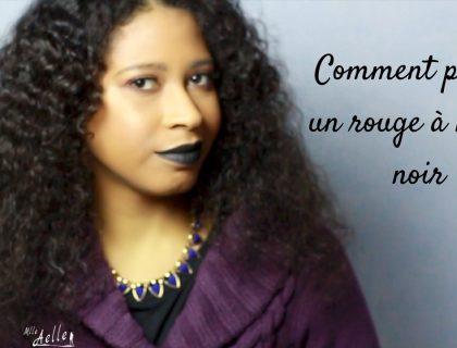Comment porter un rouge à lèvres noir