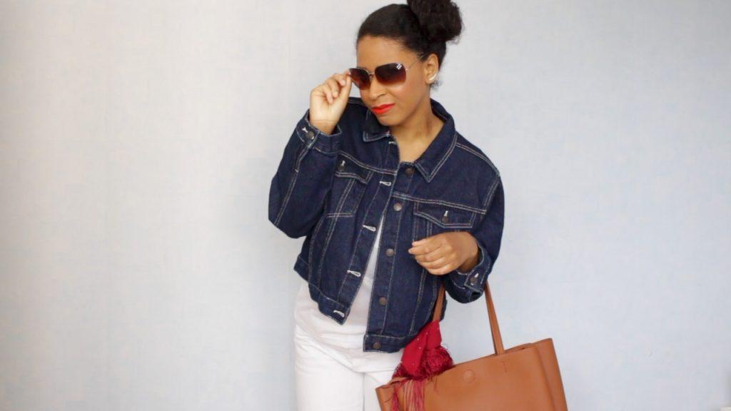 Décontractée avec un jean blanc + mes conseils pour avoir l'air plus mince