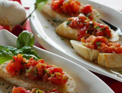Deux recettes de bruschettas gourmandes et faciles