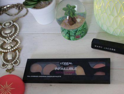 Revue de la Palette Infaillible Total Cover de L'Oréal