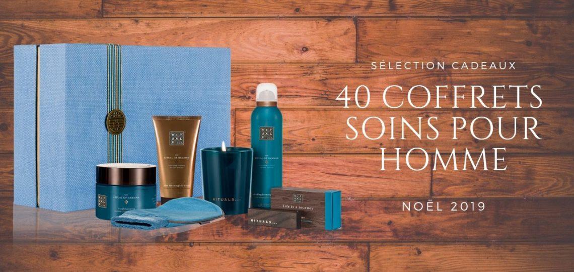 40 coffrets cadeaux soins pour Homme