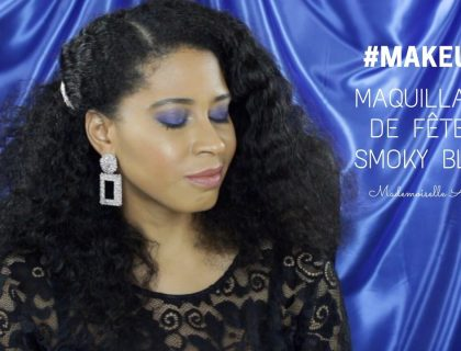 Maquillage de fêtes Smoky Bleu - Makeup Revolution Beauty