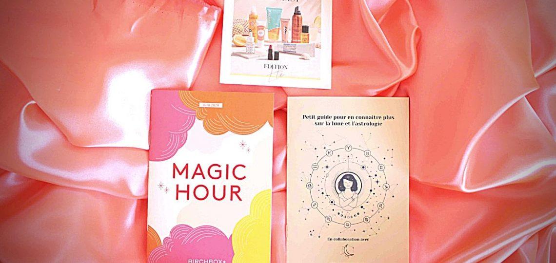 J'ai testé les produits de la Birchbox de juin Magic Hour